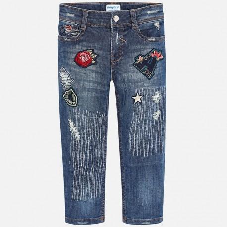 Mayoral 4556-70 Spodnie dziewczęce kolor Dirty