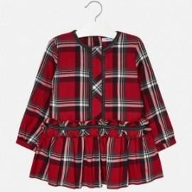 Mayoral 4962-10 Sukienka dziewczęca kratka kolor czerwony