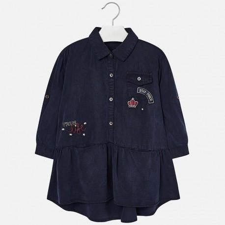 Mayoral 4968-5 Sukienka dziewczęca kolor ciemny jeans