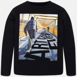Mayoral 7024-79 Koszulka chłopięca kolor czarny