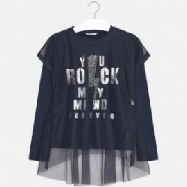 Mayoral 7066-43 Koszulka dziewczęca kolor Granatowy