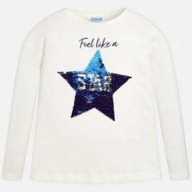 Mayoral 7070-71 Koszulka dziewczęca kolor Kremowy
