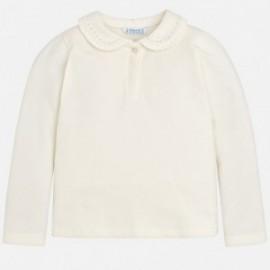 Mayoral 131-32 Koszulka polo dla dziewczynki kolor krem