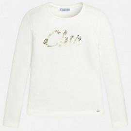 Mayoral 830-10 Koszulka dziewczęca kolor Kremowy