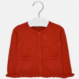 Mayoral 2340-41 Sweter dla dziewczynki kolor czerwony