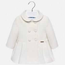 Mayoral 2480-50 Płaszcz dziewczęcy kolor kremowy