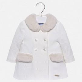 Mayoral 2482-55 Płaszcz dziewczęcy kolor krem