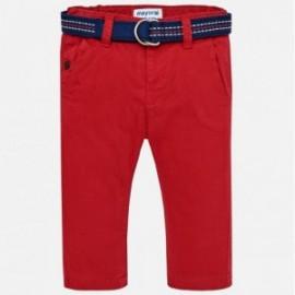Mayoral 2562-51 Spodnie chłopięce z paskiem kolor czerwony