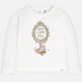 Mayoral 4046-56 Koszulka dla dziewczynki kolor krem