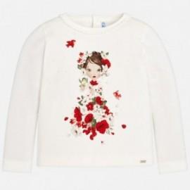 Mayoral 4046-57 Koszulka dla dziewczynki kolor krem/czerwony
