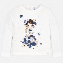 Mayoral 4046-60 Koszulka dla dziewczynki kolor krem/granatowy