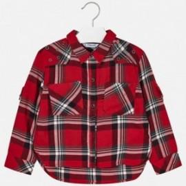 Mayoral 4126-10 Bluzka dziewczęca kratka kolor czerwony