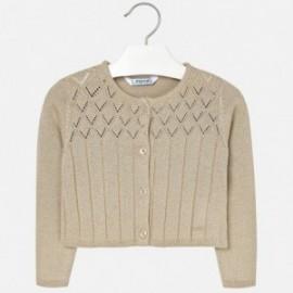 Mayoral 4326-41 Sweter dziewczęcy kolor beż