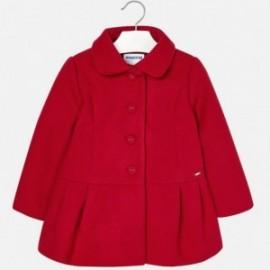 Mayoral 4496-52 Płaszcz dziewczęcy kolor czerwony