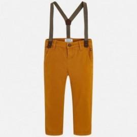 Mayoral 4518-79Mayoral 4518-79 Spodnie chłopięce z szelkami kolor biszkopt
