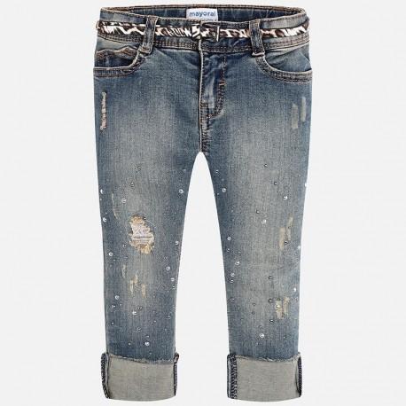 Mayoral 4542-84 Spodnie dziewczęce jeans kolor niebieski