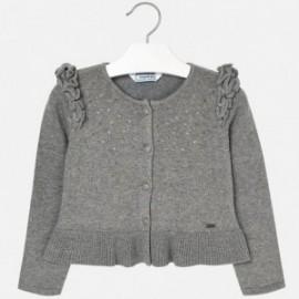 Mayoral 4328-41 Sweter dla dziewczynki kolor stal