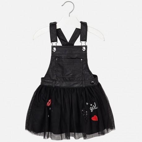 Mayoral 4926-27 spódniczka ogrodniczka dziewczęca kolor czarny