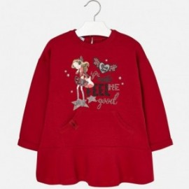 Mayoral 4977-33 Sukienka dla dziewczynki kolor czerwony