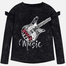 Mayoral 7060-71 Koszulka dziewczęca gitara kolor czarny