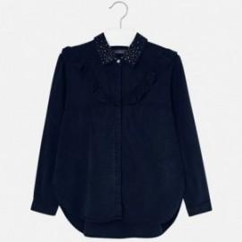 Mayoral 7120-21 Bluzka dziewczęca jeans kolor granat
