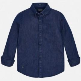 Mayoral 7142-68 Koszula chłopięca jeans kolor granat