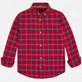 Mayoral 7146-28 Koszula chłopięca w kratę kolor wiśnia