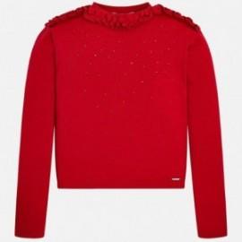 Mayoral 7312-48 Sweter dziewczęcy kolor czerwony