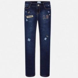 Mayoral 7538-17 Spodnie dziewczęce kolor Ciemny granat
