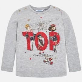 Mayoral 4058-74 Koszulka dla dziewczynki kolor srebrny