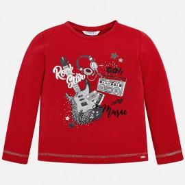 Mayoral 4068-80 Koszulka dziewczęca kolor czerwony