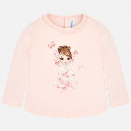 Mayoral 2044-79 Koszulka dziewczęca kolor róż