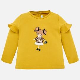 Mayoral 2058-63 Koszulka dziewczęca kolor bursztyn