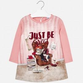 Mayoral 4972-90 Sukienka dziewczęca kolor różowy