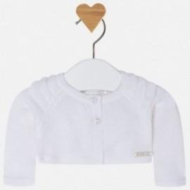 Mayoral 1302-20 Sweter dziewczęcy kolor biały