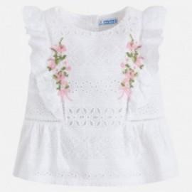 Mayoral 3112-25 Bluzka dziewczęca kolor biały