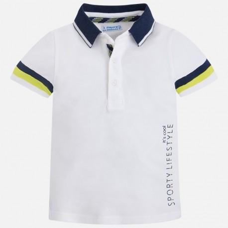 Mayoral 3142-69 Polo chłopięce kolor biały