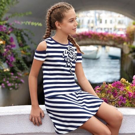 Mayoral 6940-10 Sukienka dziewczęca kolor granatowy