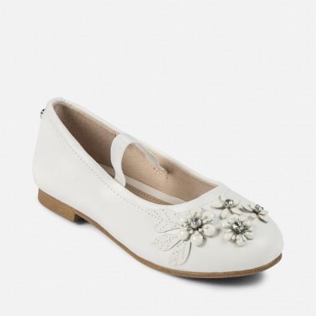 Mayoral 43861-65 Balerinki dziewczęce kolor biały