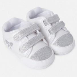 Mayoral 9807-11 Tenisówki niemowlęce dla dziewczynki kolor biały