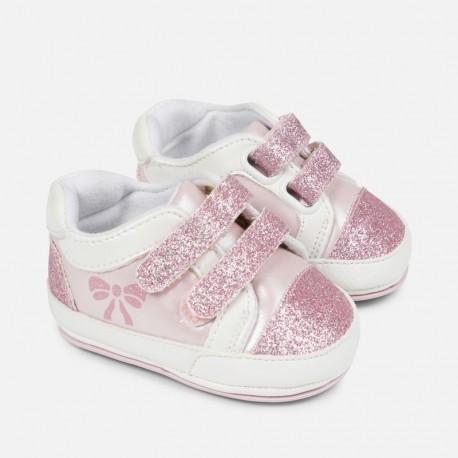Mayoral 9807-10 Tenisówki niemowlęce dla dziewczynki kolor róż