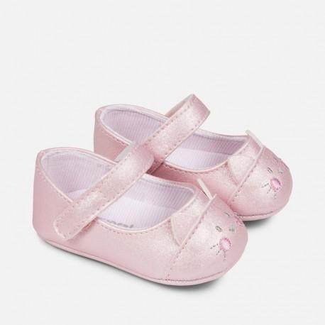 Mayoral 9808-17 Buciki niemowlęce baleriny kolor róż