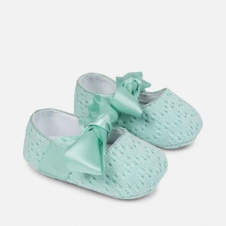 Mayoral 9809-24 Buciki niemowlęce dla dziewczynki kolor woda