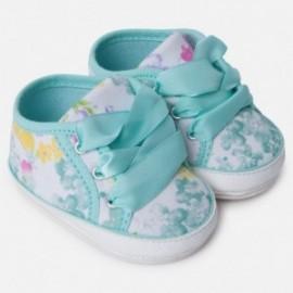 Mayoral 9816-61 Tenisówki niemowlęce dla dziewczynki kolor turkus