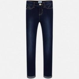 Mayoral 85-64 Spodnie dziewczęce kolor ciemny jeans