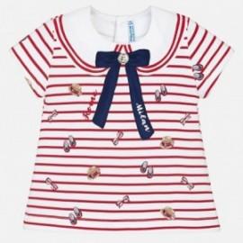Mayoral 1024-63 Koszulka dziewczęca kolor czerwony