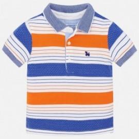 Mayoral 1132-73 Polo chłopięce kolor biały/niebieski/pomarańcz