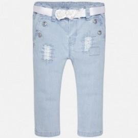 Mayoral 1526-5 Spodnie dziewczęce kolor jasny jeans