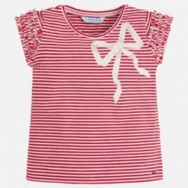 Mayoral 3006-71 Koszulka dziewczęca w paski kolor czerwony