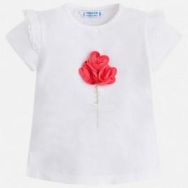 Mayoral 3018-50 Koszulka dziewczęca kolor Biały/petunia